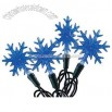 Snowflake Led Light Set - Blue