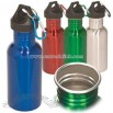 Stainless steel 17 ounce BPA-free water bottle
