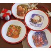 The Night Before Christmas Bamboo Melamine Plates