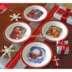 The Night Before Christmas Ceramic Dinner Plates