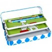 Three layer pencil case with Ladder-type