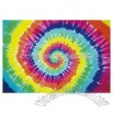 Tie-dyed cotton banner