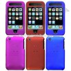 Titanium Rubberized Solid Protector Case for iPhone 3G/3GS