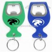 Wine cup shape aluminum bottle opener with keychain