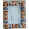 Wooden photo frame knitted with rope