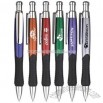 black rubber grip ballpoint pen
