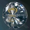 crystal diamond shaped paperweight