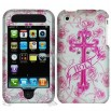 iPhone 3G/3GS Pink Holly Cross Protector Case