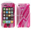 iPhone 3G Hearts/ Flower Snap-on Protective Cover