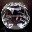 optical crystal paperweight