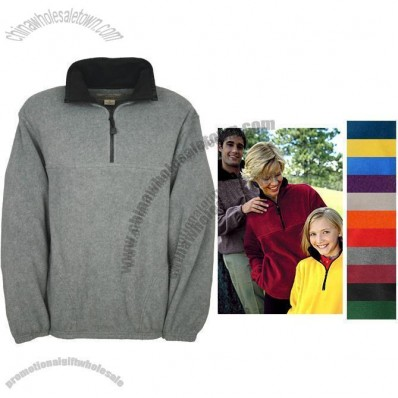 1/4-Zip Promotional Printed Fleece Jacket - Embroidered
