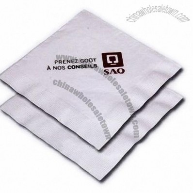 1 Ply High Volume White Cocktail Napkin