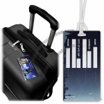 1 and 2 EURO Open-Trolley Luggage Tags