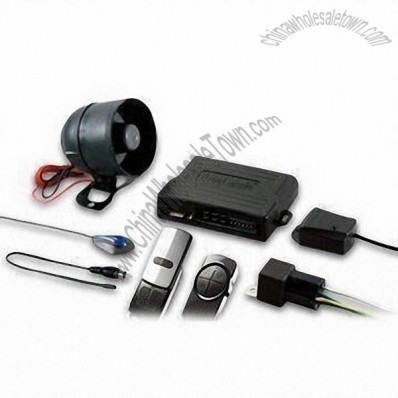 1-way Car Alarm System with Slick/Durable Carbon Fiber and Metal Transmitters