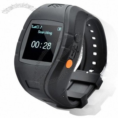 1.5 Inch LCD GSM/GPS Personal Position Wrist Watch Tracker with Sos Help Key