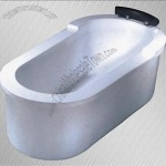1.8m-long Bathtub as Sanitary Ware with Raised Headrest