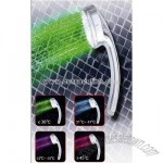 10-LED RGB Digital Water Temperature Visualizer Chromed Stainless Steel Shower Head
