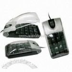 10-key Mouse with Transparent Cover for Laptop
