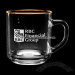 10 oz. Etched Capri Glass Coffee Mug