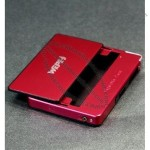 10 pcs/lot Travel 5pcs capacity iron chromeplate Cigar Cigarette Case lighter box