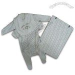 100% Combed Cotton Babies Wear Set with Directive and Reactive Dying