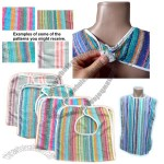 100% Cotton Multi Striped Terry Cloth Adult Bibs