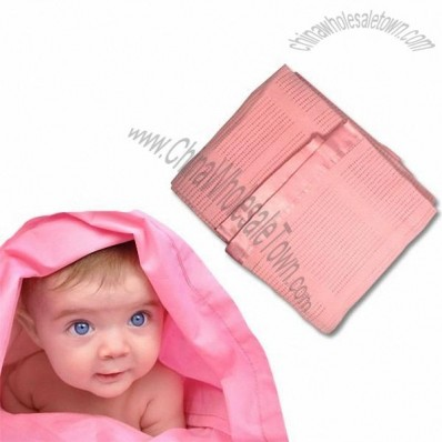100% Cotton Pink Baby Blanket