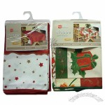 100% Polyester Christmas Design Printed Table Cloths with Table Runner