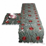 100% Polyester Embroidery Table Runner