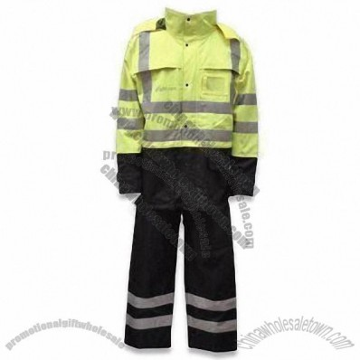 100% Polyester Oxford Fabric Reflective Safety Clothing with Milky Coating