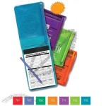 100 page pad - Translucent vinyl memo book with pad and a matching pen