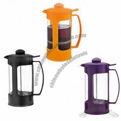 1000mL Coffee Plunger Set/Coffee Maker with Sand Polish, Filtrate Device, Plastic Handle