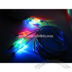 10ft illuminated usb 2.0 A to B male to male flashing led cable