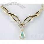 10k Gold Mystic Topaz Necklace