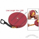 10m 33ft Red Cover Measuring Tape Retractable Tape Line Measure