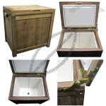 11 Gallon Outdoor Wooden Cooler Box