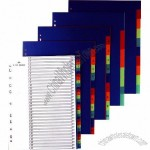 11 Holes PP Index Divider with Assorted Color
