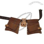 11-Pocket Comb. Split Leather Apron w/Poly Web Belt