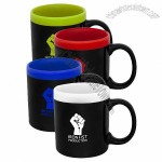 11 oz Personalized Glam Two Tone Matte Coffee Mugs
