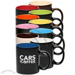 11oz Black Matte with Color Interior Coffee Mugs