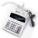 12-Digit 2-Color Printing calculator with Green Tube Display