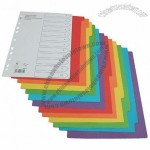 12 Tabs Colorful PP Index Divider
