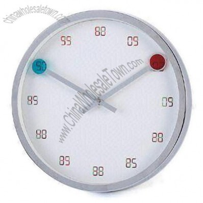 12-inch Wall Clock with Chrome-plated Case