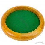 12 inch Wooden Circular RPG Gaming Table Top Dice Roll Tray