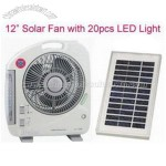 12 inch solar fan with 20 leds