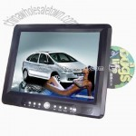 12.1inch Slot in Portable DVD Player with DVB-T, Recorder,VGA, TV, MP4 function
