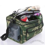 12L Portable Soft Sided Cooler Bag w/12V AC & DC Chargers - Camouflage