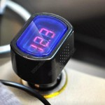 12V-24V Digital LED Car Voltmeter Gauge