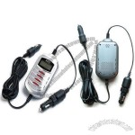 12V Car Battery Charger with 15ft Cord, Overload and Short-circuit Protections