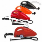 12V DC Car Vacuum Cleaner with Cigarette Lighter Plug and 60W Power